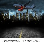city quarantine and blackout... | Shutterstock . vector #1675936420