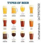 types of beer vector... | Shutterstock .eps vector #1675937020