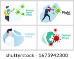 set vector illustration covid... | Shutterstock .eps vector #1675942300