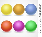 a collection of balls of... | Shutterstock .eps vector #167594948