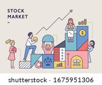 stock icon boxes are stacked...   Shutterstock .eps vector #1675951306