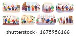 set with master class... | Shutterstock .eps vector #1675956166