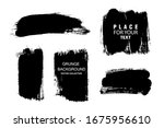 vector paintbrush set  brush... | Shutterstock .eps vector #1675956610