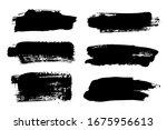vector set of hand drawn brush... | Shutterstock .eps vector #1675956613
