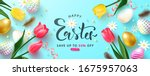 happy easter sale advertising... | Shutterstock .eps vector #1675957063