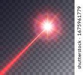red laser beam. vector...   Shutterstock .eps vector #1675961779