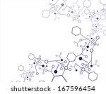 abstract molecular structure... | Shutterstock . vector #167596454