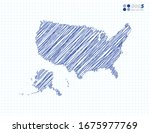 blue vector silhouette chaotic... | Shutterstock .eps vector #1675977769