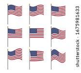 original american flag set  the ...   Shutterstock .eps vector #1675981633