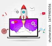 illustration web startup.... | Shutterstock .eps vector #1675985056