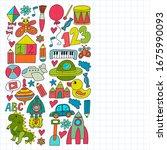 kindergarten preschool school... | Shutterstock .eps vector #1675990093