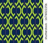 ikat seamless pattern design... | Shutterstock .eps vector #1676022256