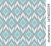 ikat seamless pattern design... | Shutterstock .eps vector #1676022259