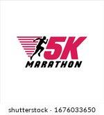 5k run logo design vector stock ...   Shutterstock .eps vector #1676033650