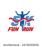 5k run logo design vector stock ...   Shutterstock .eps vector #1676033656