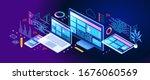 building mobile interface on... | Shutterstock .eps vector #1676060569