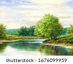 Digital Oil Paintings Landscape ...