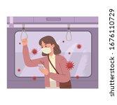 vector illustration of a woman... | Shutterstock .eps vector #1676110729