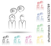 customer connection multi color ... | Shutterstock .eps vector #1676122789