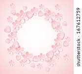 pink background with  valentine ... | Shutterstock .eps vector #167612759