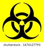 biological hazard icon ... | Shutterstock .eps vector #1676127793