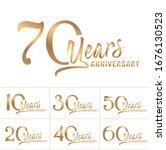 anniversary logotype set.... | Shutterstock .eps vector #1676130523
