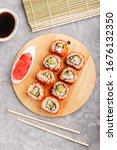 Japanese Maki Sushi Rolls With...