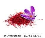 Dried Saffron Spice With Flower ...