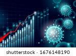 growing graph coronavirus stats.... | Shutterstock .eps vector #1676148190