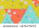 90s design. geometric shapes...   Shutterstock .eps vector #1676170273