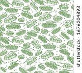 vector hand drawn  seamless... | Shutterstock .eps vector #1676204893
