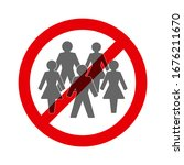 social distancing. ban on... | Shutterstock .eps vector #1676211670