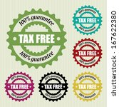 tax free vintage stamp   vector ... | Shutterstock .eps vector #167622380