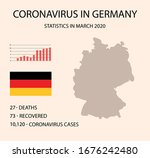 coronavirus in germany. germany ... | Shutterstock .eps vector #1676242480