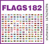 here are the flags of 182... | Shutterstock .eps vector #1676246596