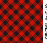 lumberjack plaid pattern.... | Shutterstock . vector #1676248129