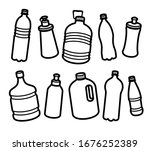 bottles water set. collection... | Shutterstock .eps vector #1676252389