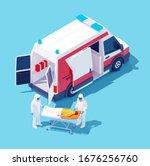 vector isometric ambulance... | Shutterstock .eps vector #1676256760