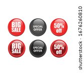 glossy sales button vector... | Shutterstock .eps vector #1676260810