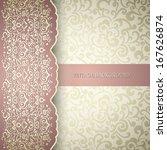 vintage background  greeting... | Shutterstock .eps vector #167626874