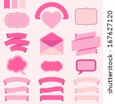 banners  labels and ribbons for ... | Shutterstock .eps vector #167627120