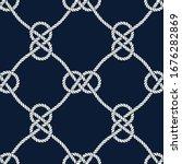 Seamless Nautical Rope Pattern. ...