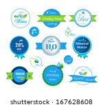 set of water badges and stickers | Shutterstock .eps vector #167628608