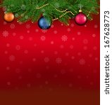 christmas background with... | Shutterstock .eps vector #167628773
