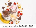 Set Of Milkshake Or Smoothie In ...