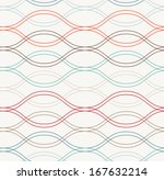 seamless vector abstract wave... | Shutterstock .eps vector #167632214