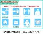 coronavirus preventive signs.... | Shutterstock .eps vector #1676324776
