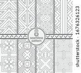 seamless geometric vector... | Shutterstock .eps vector #1676326123
