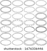 28 individual hand drawn oval... | Shutterstock .eps vector #1676336446