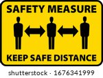 safety measure keep a safe... | Shutterstock .eps vector #1676341999